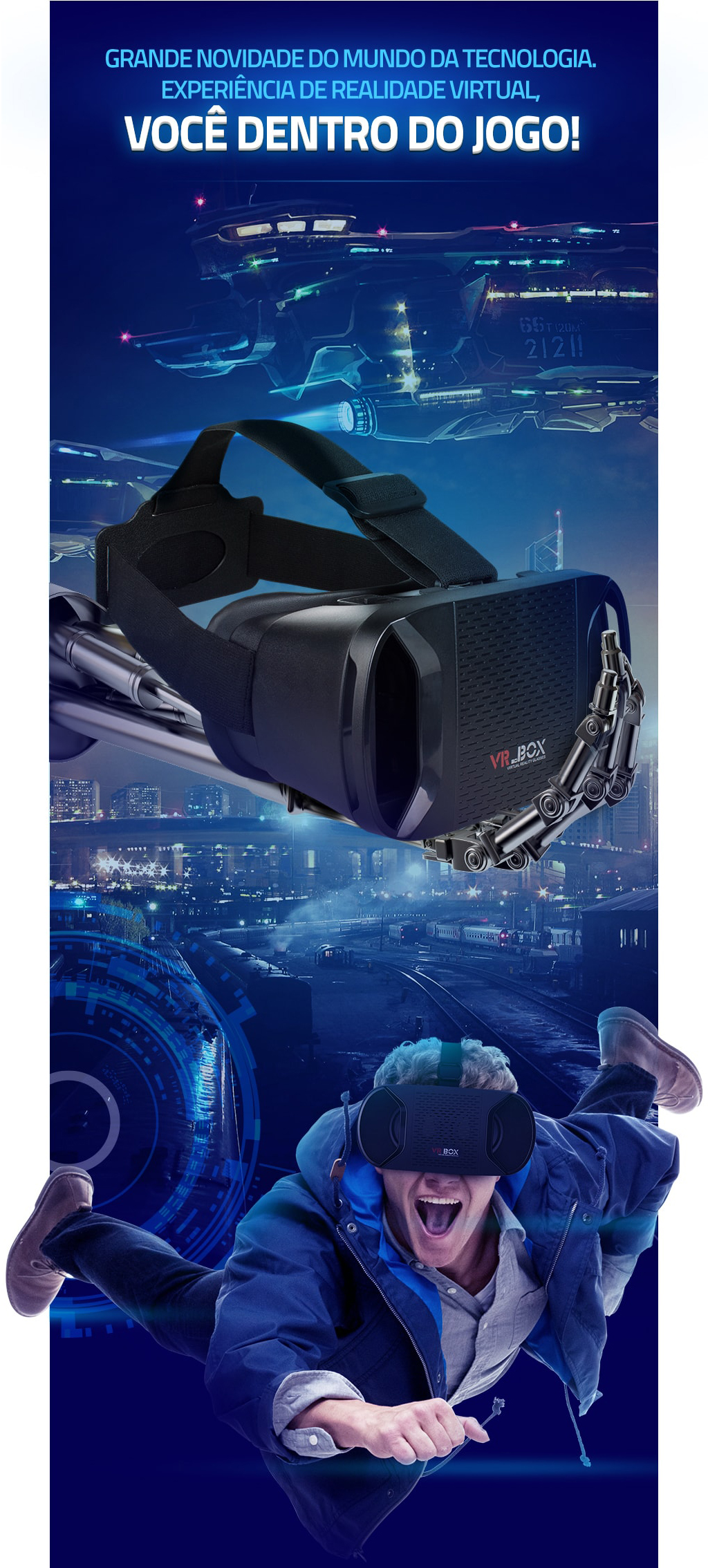 Óculos VR 3D Realidade Virtual Android IOS Windows 2016 VR-BOX-1288 726df3650a